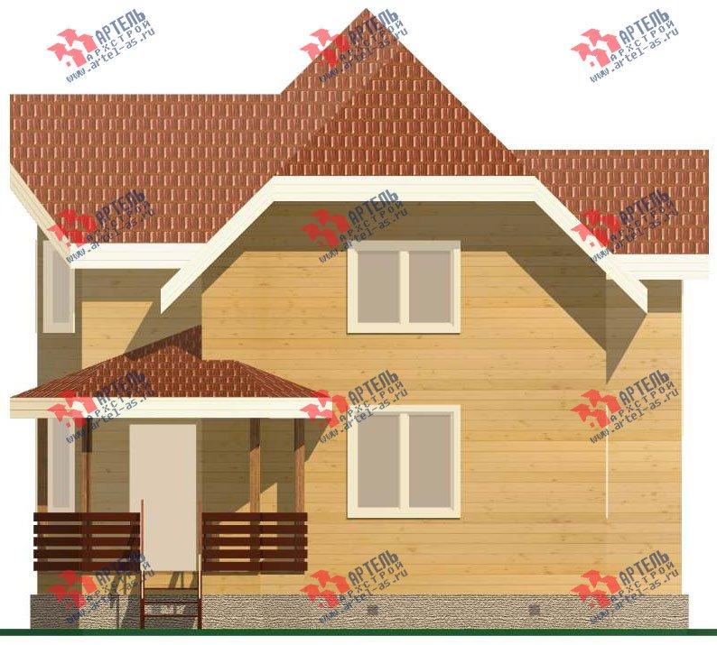 двухэтажный дом из бруса площадью от 150 до 200 кв. м. с  эркером, проект Вариант 11.2 В фотография 3160