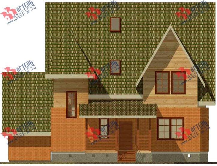 двухэтажный дом из камня площадью свыше 200 кв. м. с  террасой, проект Вариант 29 фотография 3181