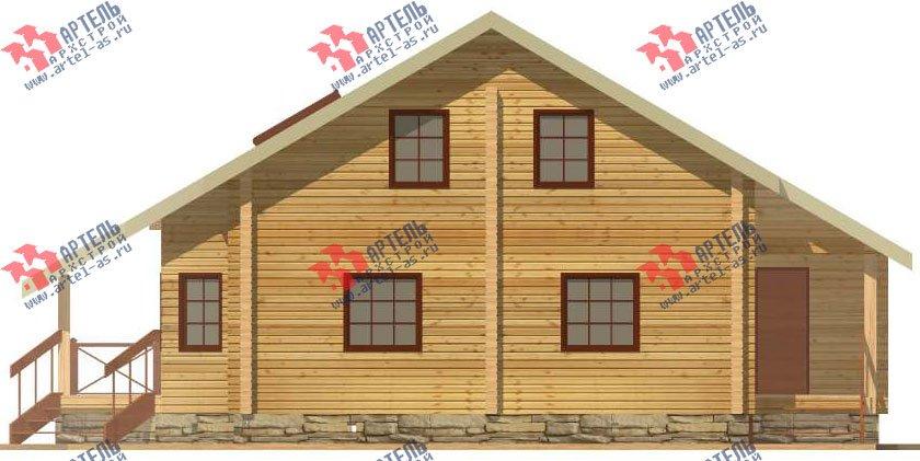 двухэтажный дом из профилированного бруса площадью от 150 до 200 кв. м. с  мансардой, террасой, проект Вариант 8.3 А фотография 3228