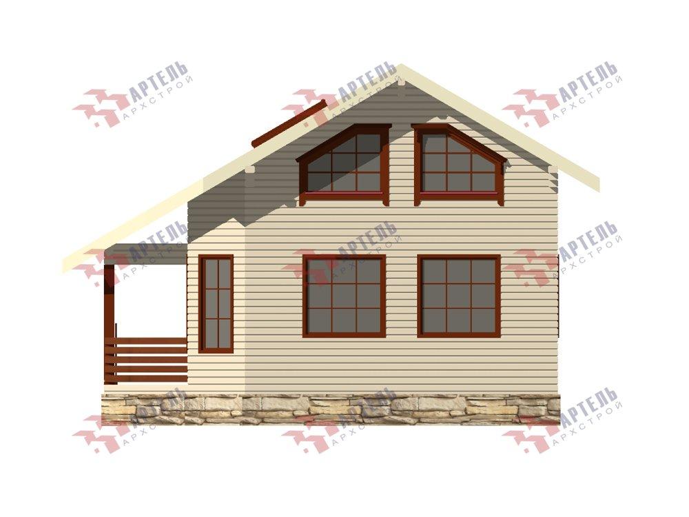 двухэтажный дом из профилированного бруса площадью от 100 до 150 кв. м. с  верандой, мансардой, эркером, проект Вариант 6 Л фотография 5891