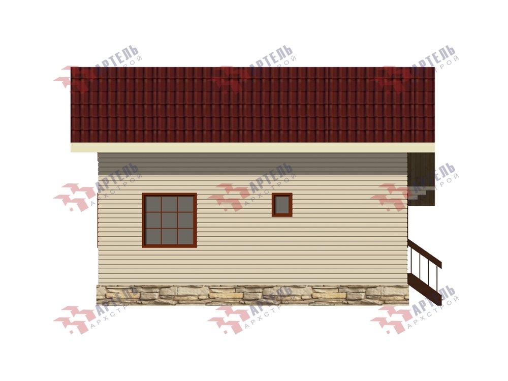 двухэтажный дом из профилированного бруса площадью от 100 до 150 кв. м. с  верандой, мансардой, эркером, проект Вариант 6 Л фотография 5892