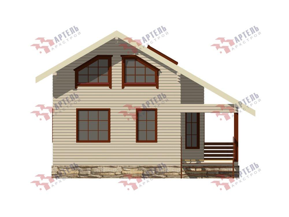двухэтажный дом из профилированного бруса площадью от 100 до 150 кв. м. с  верандой, мансардой, эркером, проект Вариант 6 Л фотография 5893