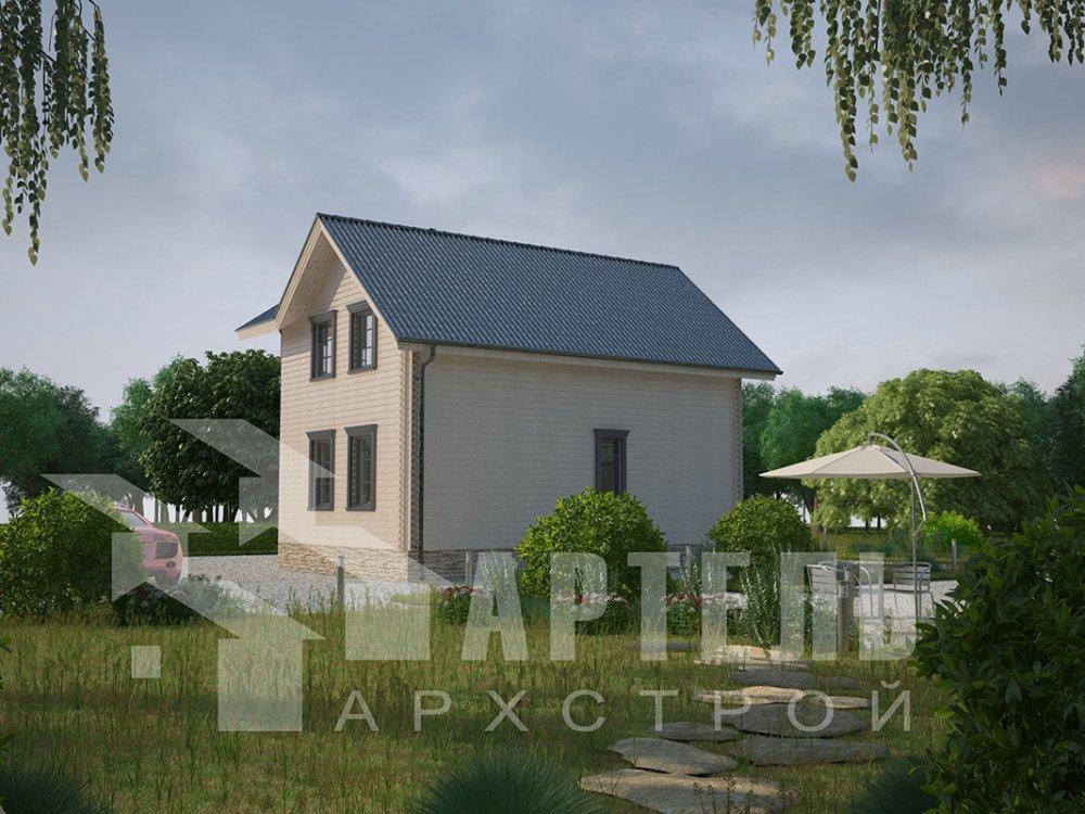 двухэтажный дом из профилированного бруса площадью от 100 до 150 кв. м. с  мансардой, эркером, проект Вариант 7.2 К фотография 4424