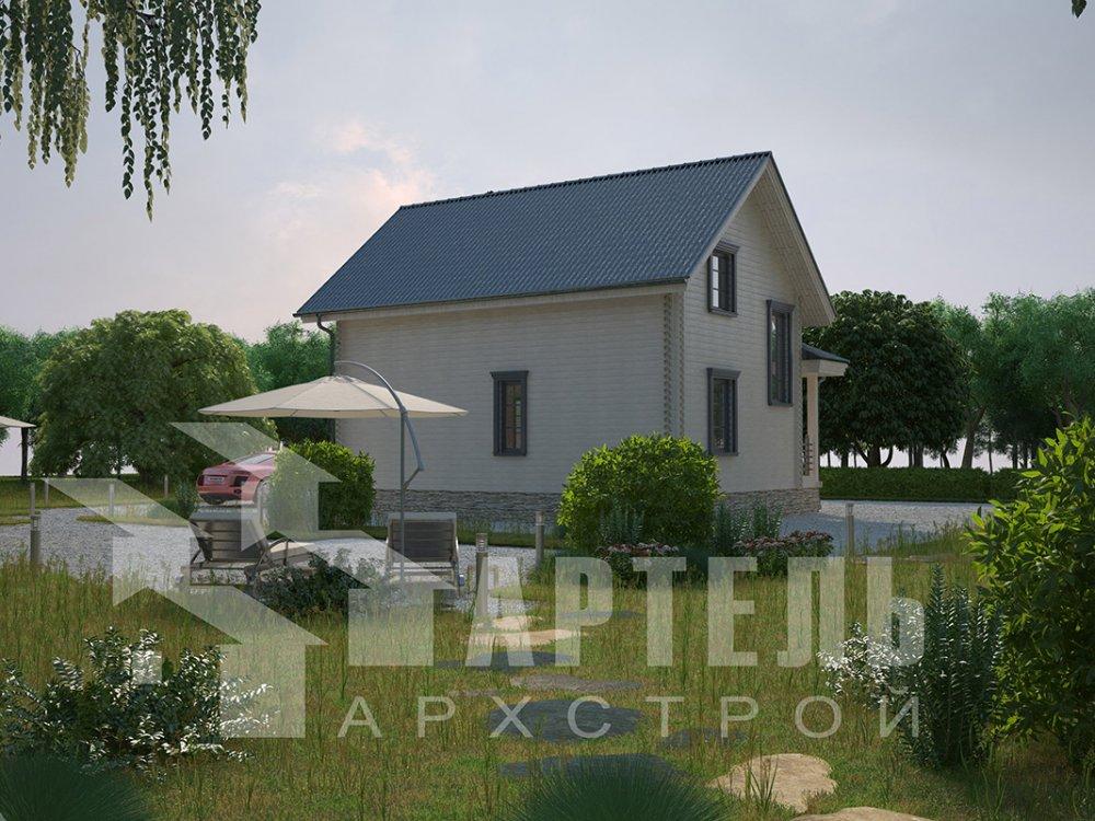 двухэтажный дом из профилированного бруса площадью от 100 до 150 кв. м. с  мансардой, эркером, проект Вариант 7.2 К фотография 4425