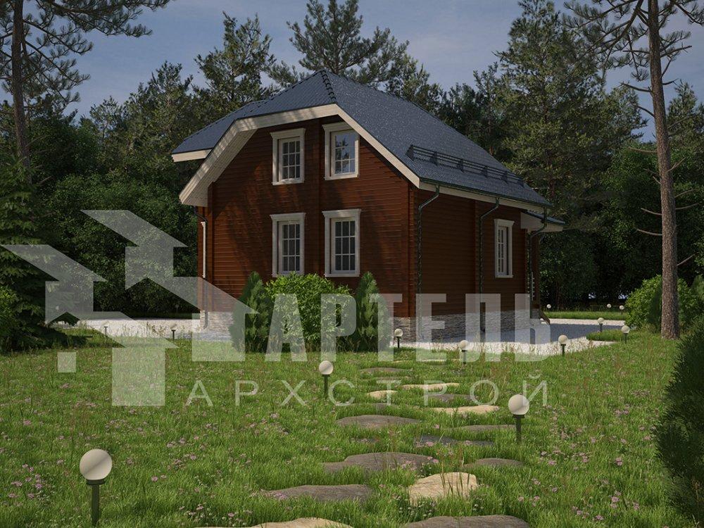 двухэтажный дом из профилированного бруса площадью от 100 до 150 кв. м. с  мансардой, эркером, проект Вариант 7.3 К фотография 4112