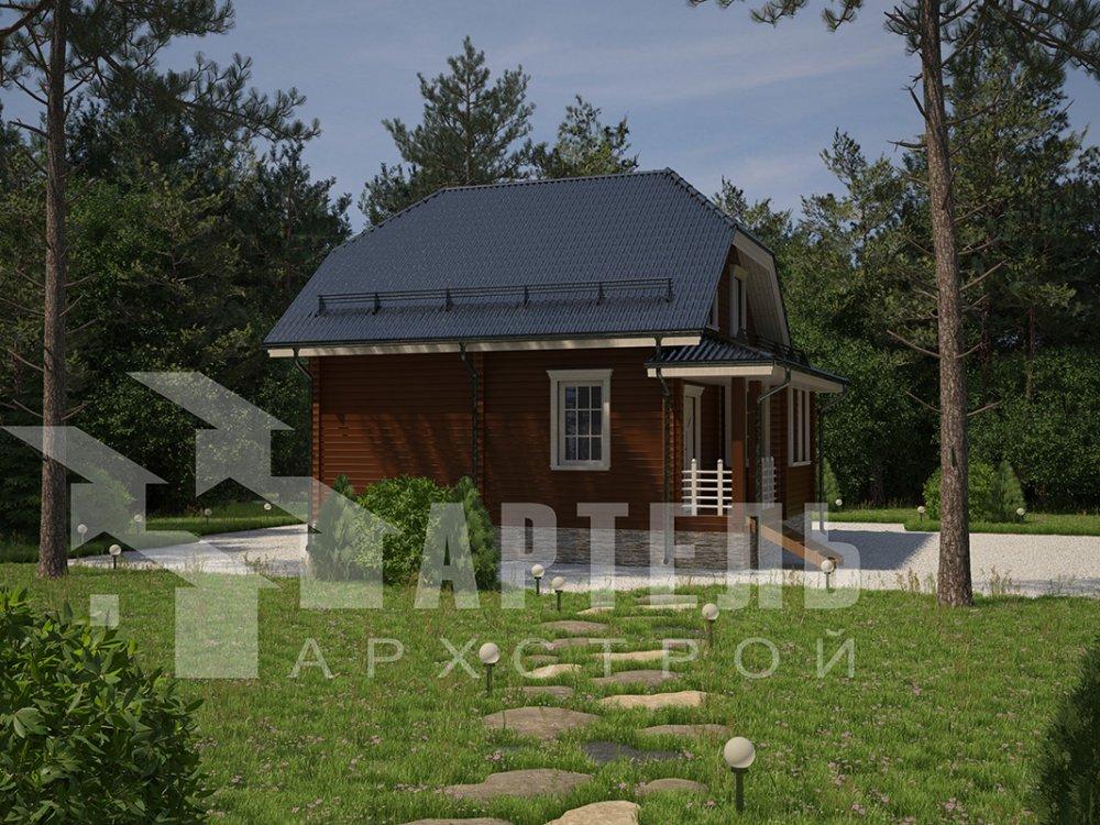 двухэтажный дом из профилированного бруса площадью от 100 до 150 кв. м. с  мансардой, эркером, проект Вариант 7.3 К фотография 4111
