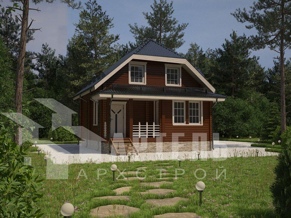двухэтажный дом из профилированного бруса площадью от 100 до 150 кв. м. с  мансардой, эркером, проект Вариант 7.3 К фотография 4110