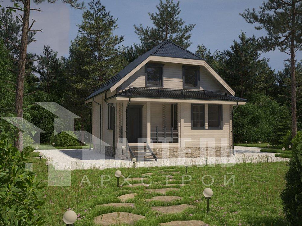 двухэтажный дом из профилированного бруса площадью от 100 до 150 кв. м. с  мансардой, эркером, проект Вариант 7.3 К фотография 4104