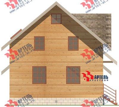 двухэтажный дом из бруса площадью от 150 до 200 кв. м. с  гаражом, мансардой, проект Вариант 8 О фотография 1198