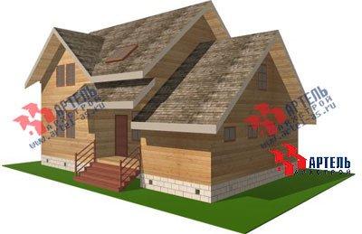 двухэтажный дом из бруса площадью от 150 до 200 кв. м. с  гаражом, мансардой, проект Вариант 8 О фотография 1196