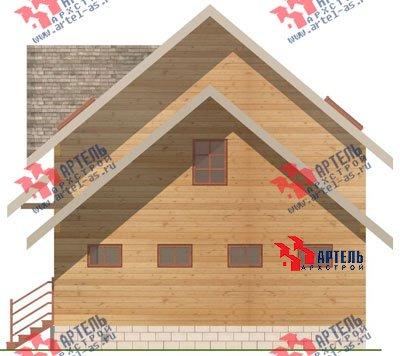 двухэтажный дом из бруса площадью от 150 до 200 кв. м. с  гаражом, мансардой, проект Вариант 8 О фотография 1200