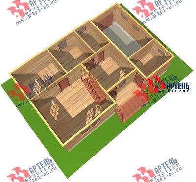 двухэтажный дом из бруса площадью от 150 до 200 кв. м. с  гаражом, мансардой, проект Вариант 8 О фотография 1201