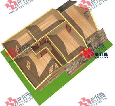 двухэтажный дом из бруса площадью от 150 до 200 кв. м. с  гаражом, мансардой, проект Вариант 8 О фотография 1202