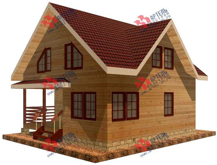 двухэтажный дом из профилированного бруса площадью от 100 до 150 кв. м. с  мансардой, террасой, проект Вариант 8.5 В фотография 978