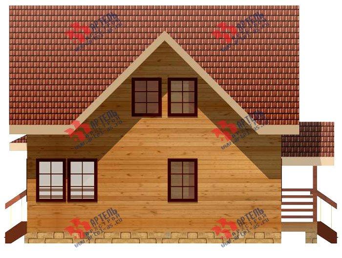 двухэтажный дом из профилированного бруса площадью от 100 до 150 кв. м. с  мансардой, террасой, проект Вариант 8.5 В фотография 982