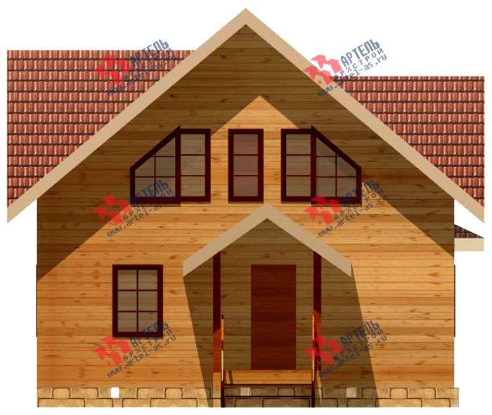 двухэтажный дом из профилированного бруса площадью от 100 до 150 кв. м. с  мансардой, террасой, проект Вариант 8.5 В фотография 983