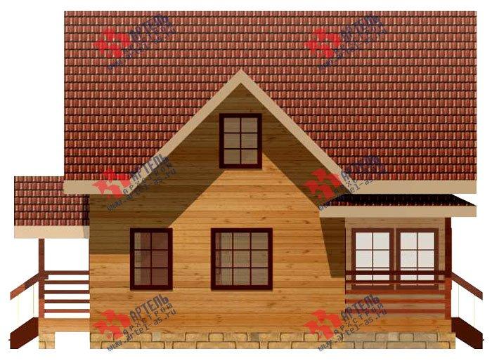двухэтажный дом из профилированного бруса площадью от 100 до 150 кв. м. с  мансардой, террасой, проект Вариант 8.5 В фотография 984