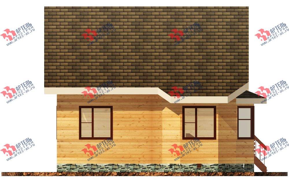 двухэтажный дом из бруса площадью от 100 до 150 кв. м. с  балконом, мансардой, террасой, эркером, проект Вариант 8.5 И фотография 1024