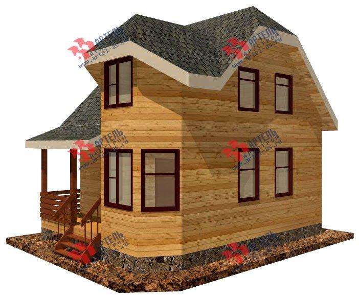 двухэтажный дом из профилированного бруса площадью до 100 кв. м. с  мансардой, эркером, проект Вариант 6.5 Е фотография 720