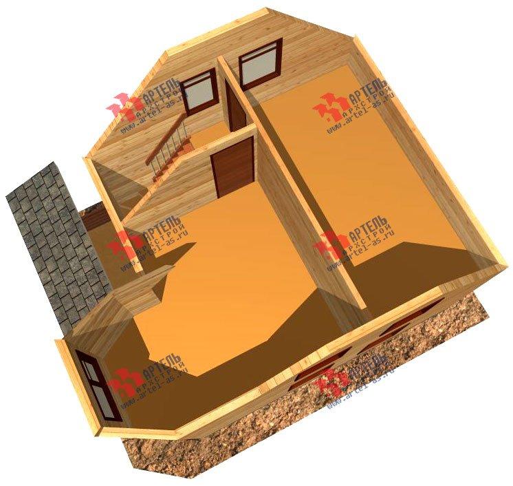 двухэтажный дом из профилированного бруса площадью до 100 кв. м. с  мансардой, эркером, проект Вариант 6.5 Е фотография 726