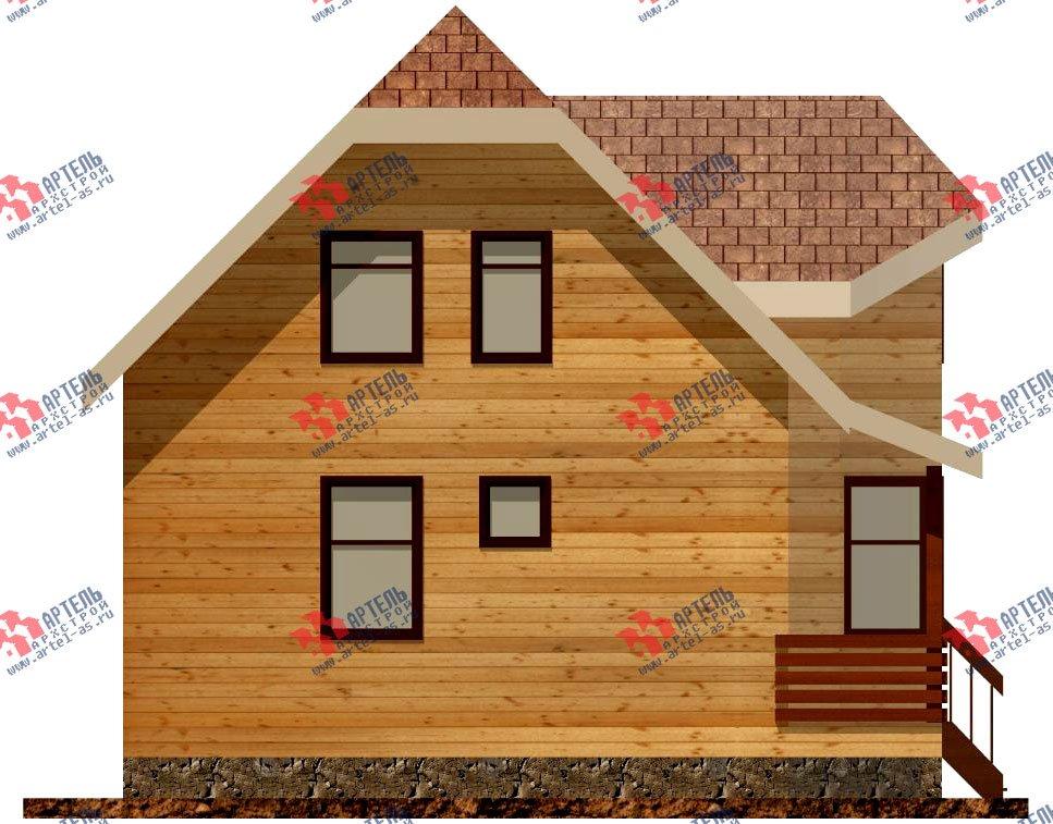 двухэтажный дом из профилированного бруса площадью до 100 кв. м. с  мансардой, эркером, проект Вариант 6.5 Е фотография 721