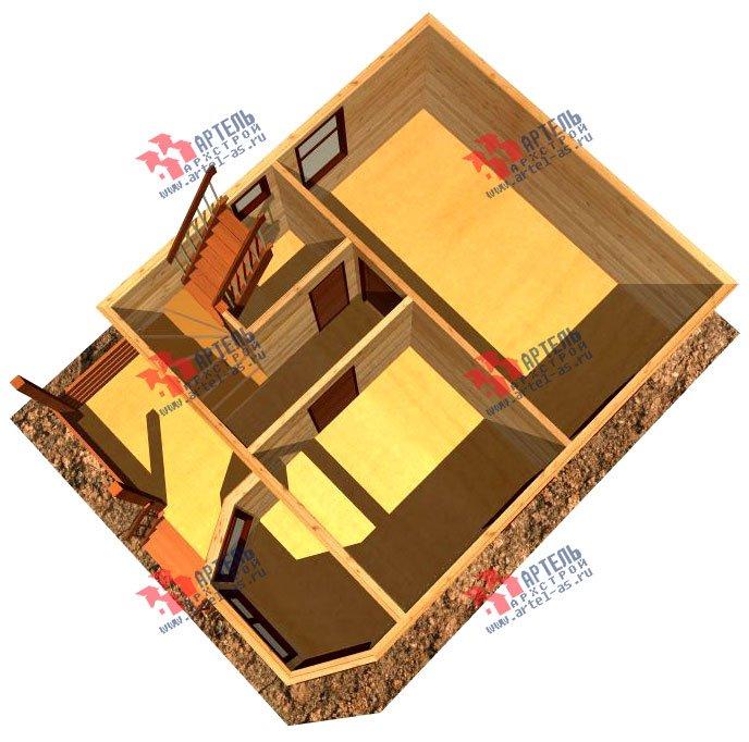 двухэтажный дом из профилированного бруса площадью до 100 кв. м. с  мансардой, эркером, проект Вариант 6.5 Е фотография 725