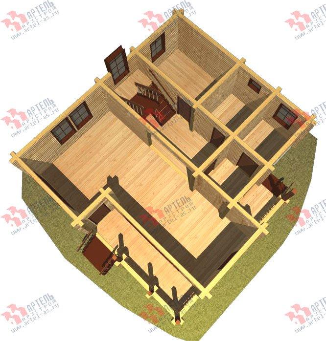 двухэтажный дом из профилированного бруса площадью от 100 до 150 кв. м. с  балконом, проект Вариант 9.5 К фотография 75