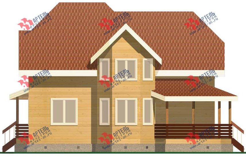 двухэтажный дом из бруса площадью от 150 до 200 кв. м. с  эркером, проект Вариант 11.2 В фотография 3161