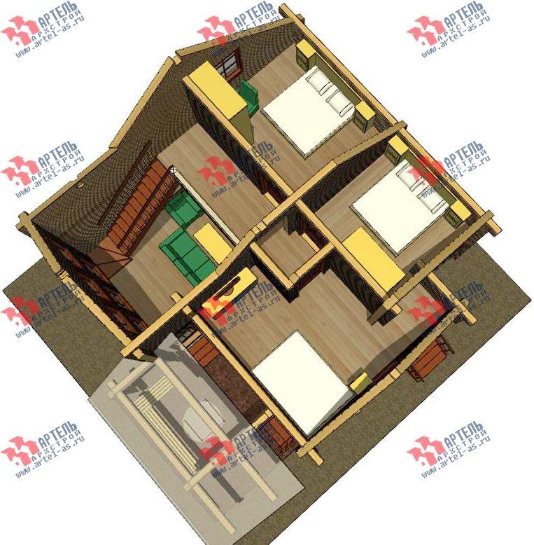 двухэтажный проект площадью от 100 до 150 кв. м. с  мансардой, террасой, проект Вариант 8.7 А фотография 3280