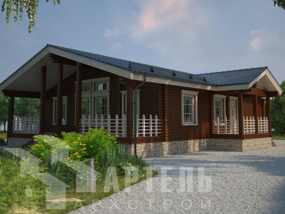 двухэтажный дом из профилированного бруса площадью от 100 до 150 кв. м. с  мансардой, эркером, проект Вариант 8.5 Б фотография 201