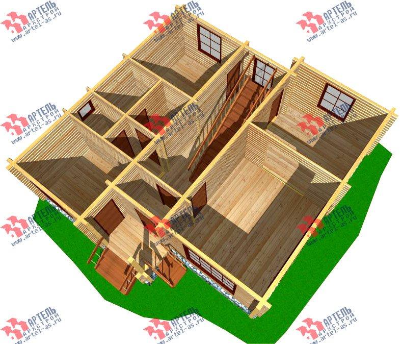 двухэтажный дом из профилированного бруса площадью от 100 до 150 кв. м. с  балконом, мансардой, проект Вариант 9.3 К фотография 257