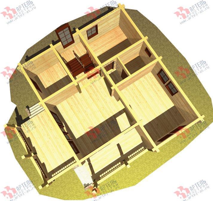 двухэтажный дом из профилированного бруса площадью от 150 до 200 кв. м. с  балконом, мансардой, террасой, проект Вариант 8.6 К фотография 333