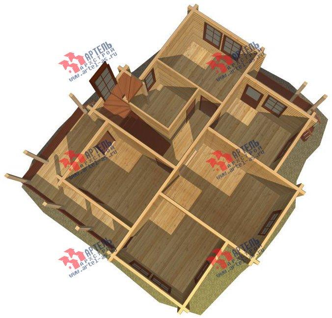 двухэтажный дом из профилированного бруса площадью от 100 до 150 кв. м. с  верандой, мансардой, эркером, проект Вариант 8.2 К фотография 355