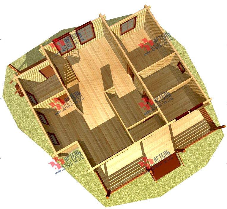 двухэтажный дом из профилированного бруса площадью от 150 до 200 кв. м., проект Вариант 9 О фотография 366