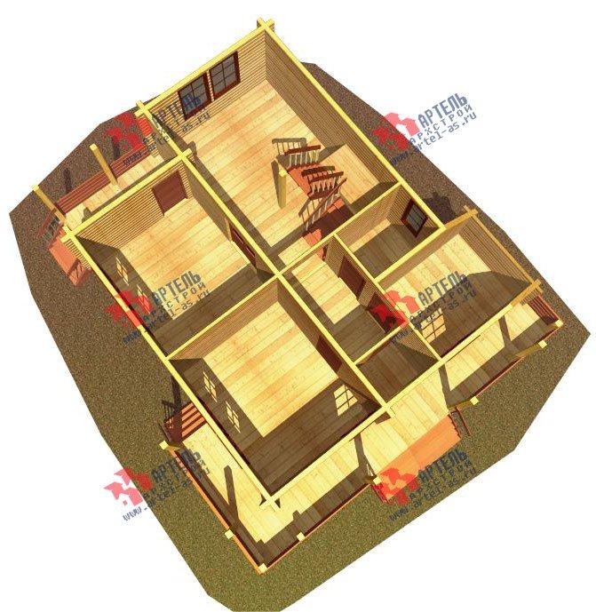 двухэтажный дом из профилированного бруса площадью от 150 до 200 кв. м. с  балконом, террасой, проект Вариант 7.7 А фотография 387