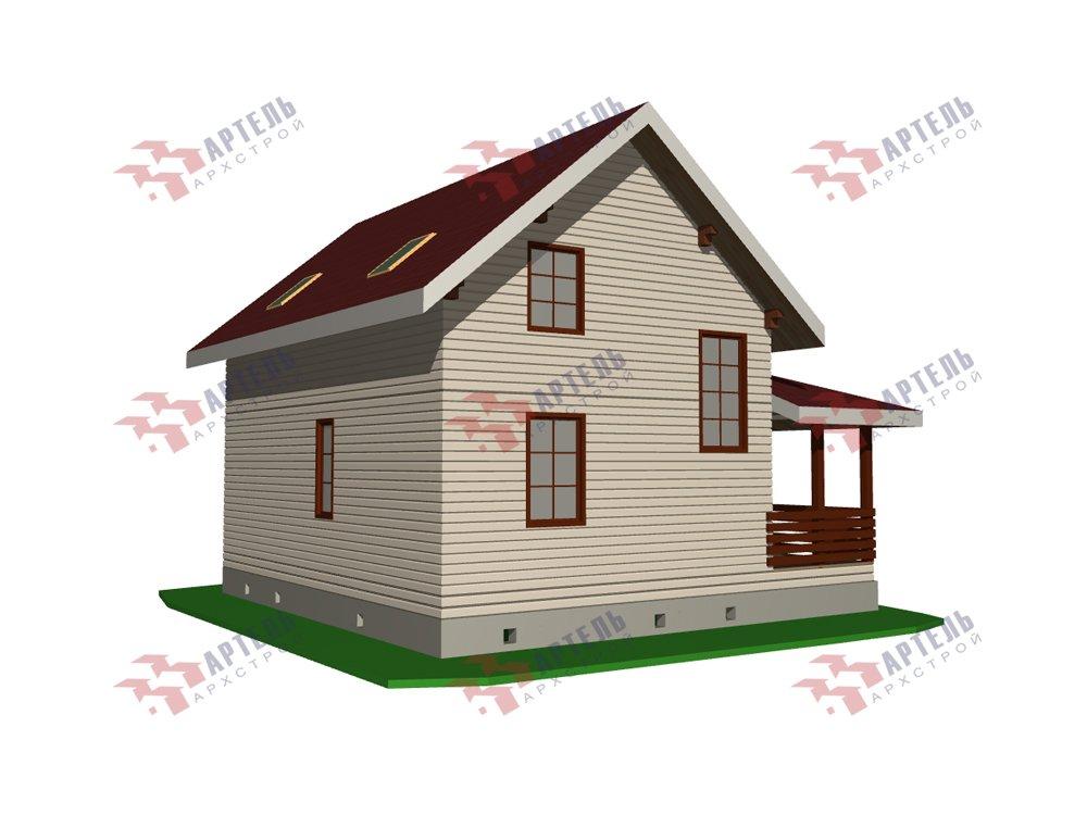 двухэтажный дом из профилированного бруса площадью от 100 до 150 кв. м. с  мансардой, эркером, проект Вариант 7.2 К фотография 5844