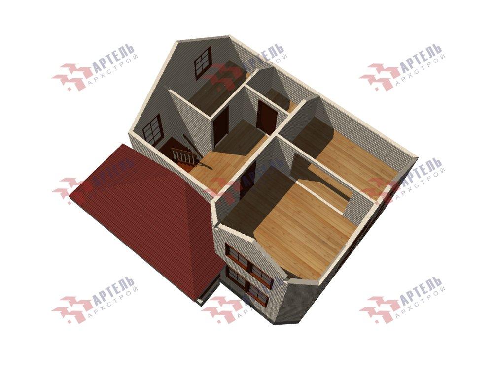двухэтажный дом из профилированного бруса площадью от 100 до 150 кв. м. с  мансардой, эркером, проект Вариант 7.2 К фотография 5846