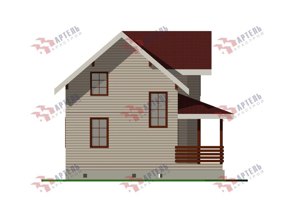 двухэтажный дом из профилированного бруса площадью от 100 до 150 кв. м. с  мансардой, эркером, проект Вариант 7.2 К фотография 5850