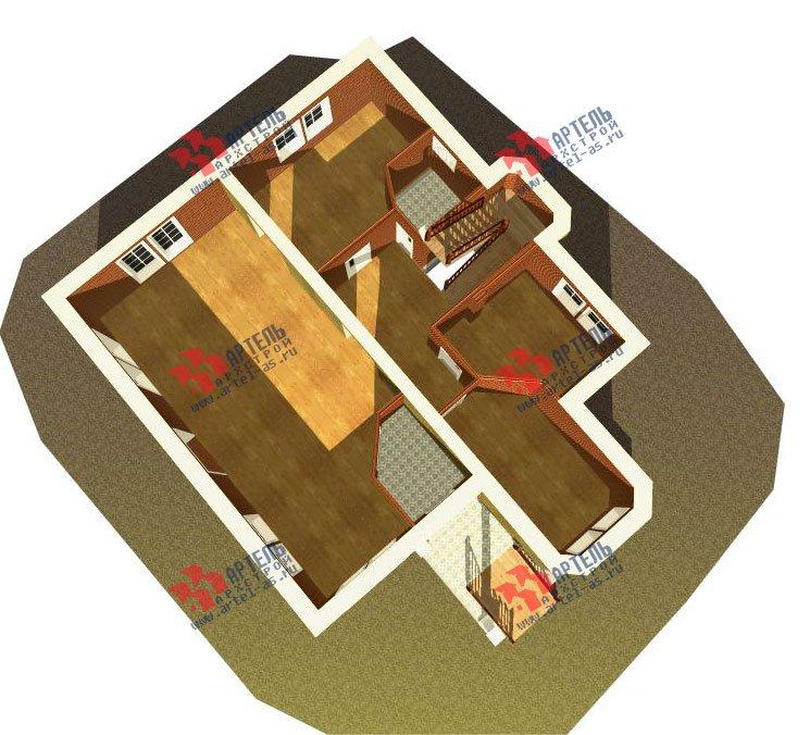 трёхэтажный дом из камня площадью свыше 200 кв. м. с  эркером, проект Вариант 20 фотография 649