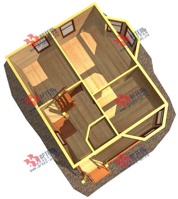 двухэтажный дом из бруса площадью до 100 кв. м. с  мансардой, эркером, проект Вариант 6.2 А фотография 715