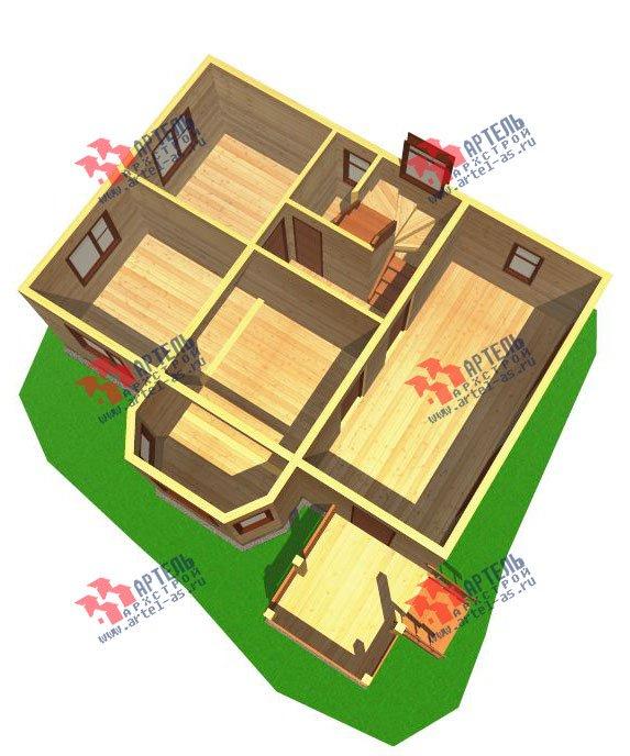 двухэтажный дом из бруса площадью от 100 до 150 кв. м. с  балконом, мансардой, эркером, проект Вариант 6.2 К фотография 761