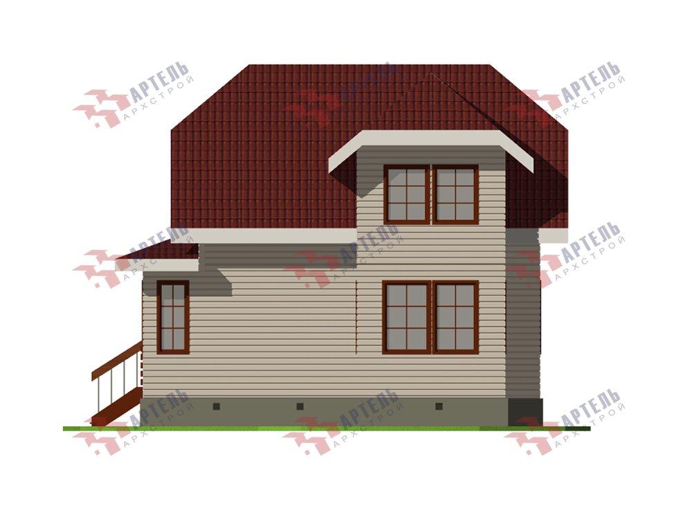 двухэтажный дом из профилированного бруса площадью от 100 до 150 кв. м. с  мансардой, эркером, проект Вариант 7.3 К фотография 5878