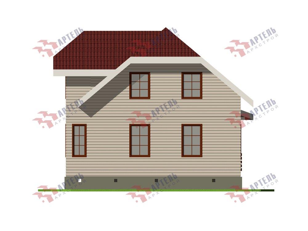 двухэтажный дом из профилированного бруса площадью от 100 до 150 кв. м. с  мансардой, эркером, проект Вариант 7.3 К фотография 5879