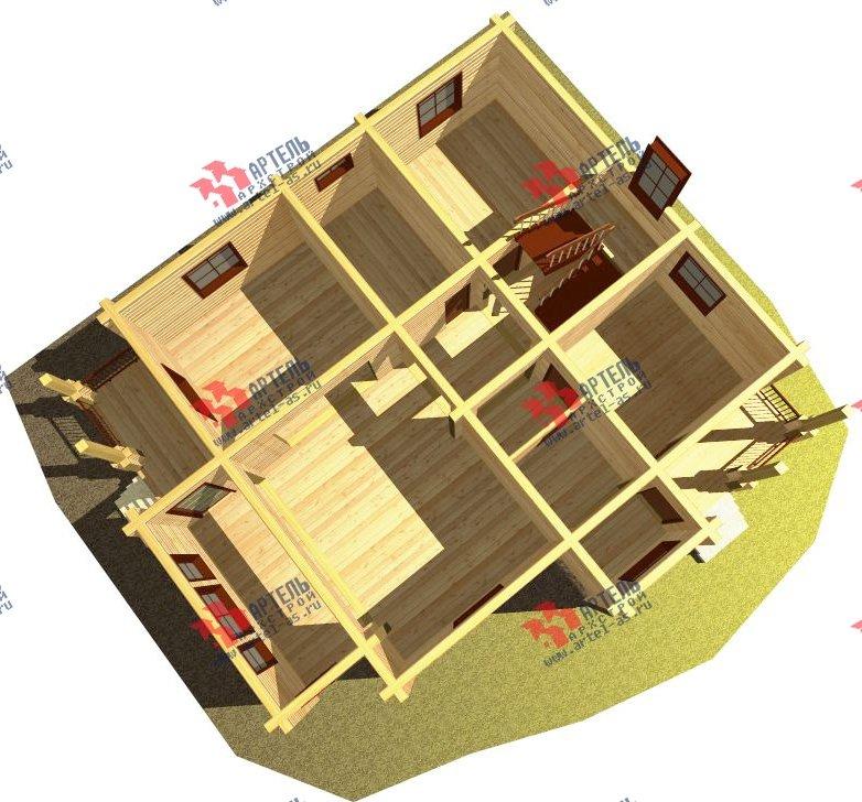 двухэтажный дом из бруса площадью свыше 200 кв. м. с  балконом, мансардой, проект Вариант 9.5 К-2 фотография 104