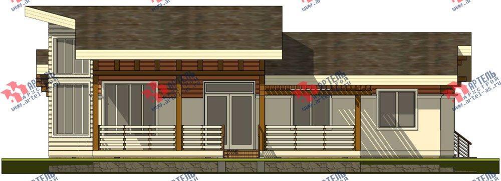 одноэтажный дом из профилированного бруса камерной сушки площадью от 150 до 200 кв. м. с  террасой, эркером, проект Вариант 5 фотография 2672