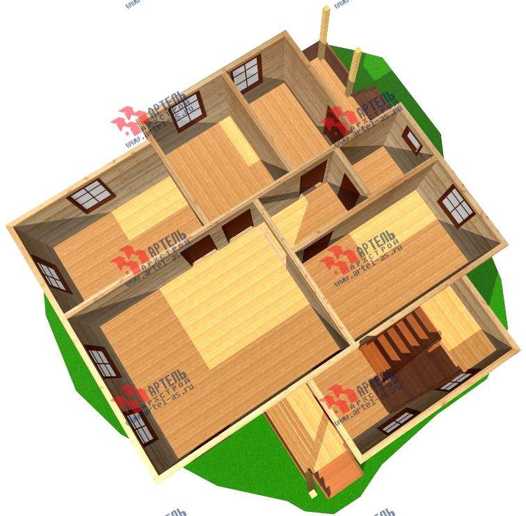 двухэтажный дом из профилированного бруса площадью от 100 до 150 кв. м. с  мансардой, проект Вариант 7.3 Б фотография 929