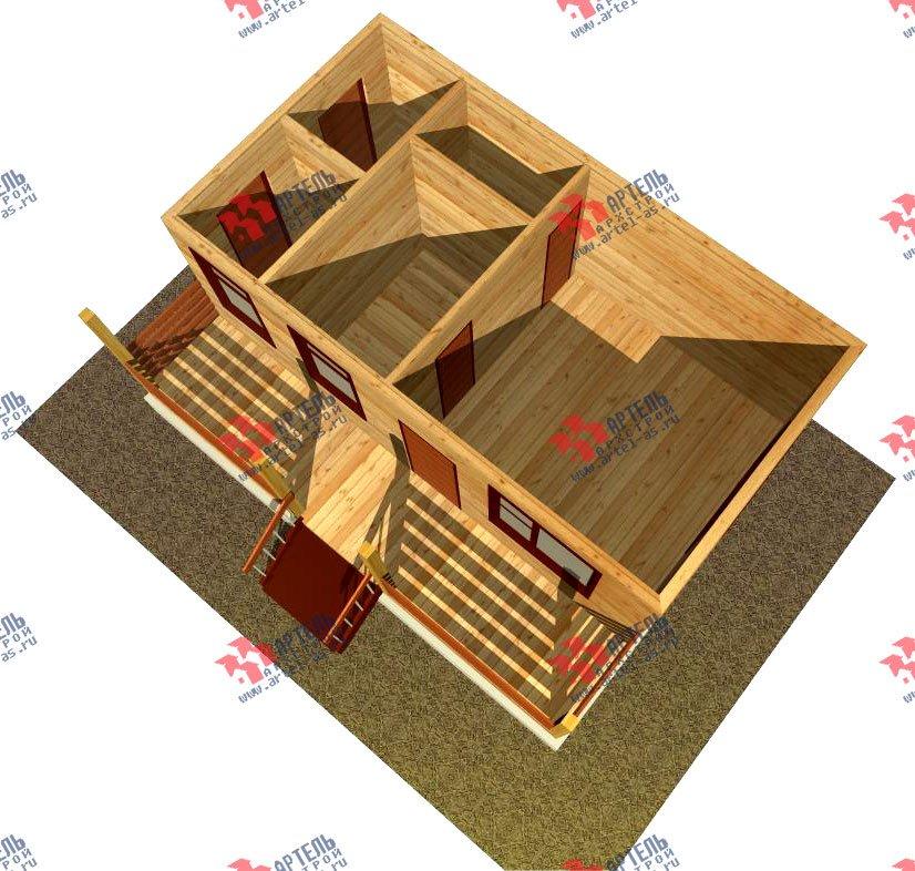 одноэтажный дом из профилированного бруса площадью до 100 кв. м., проект Вариант 1 фотография 1528