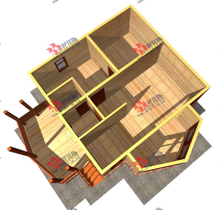 одноэтажный дом из профилированного бруса площадью до 100 кв. м., проект Вариант 2 фотография 1539