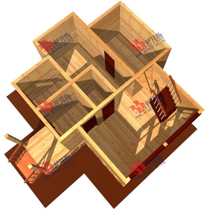 двухэтажный дом из профилированного бруса площадью до 100 кв. м., проект Вариант 3 фотография 1546