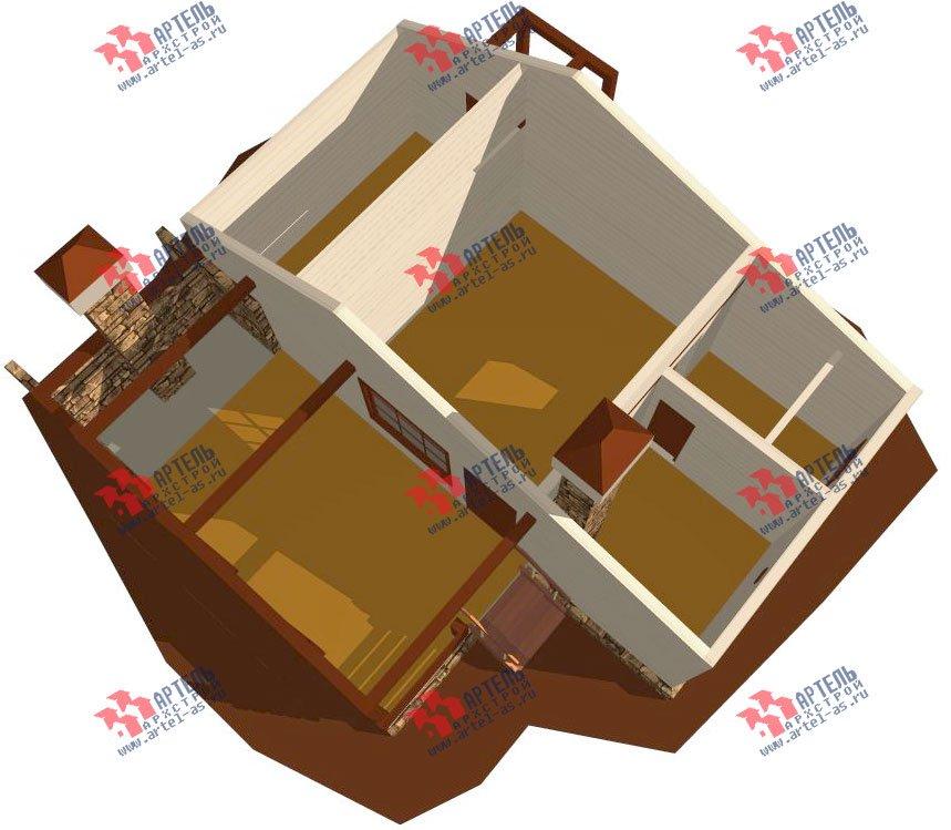 одноэтажный дом из профилированного бруса площадью до 100 кв. м., проект Вариант 5 фотография 1566